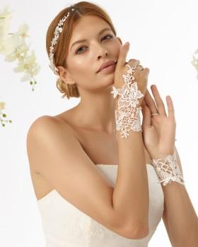 Svadobné rukavice z čipky