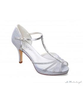Svadobné a spoločenské topánky Anita, G. Westerleigh - strieborné