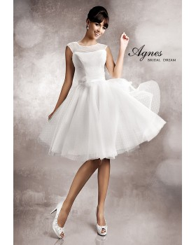 Krátke svadobné šaty Agnes 11254