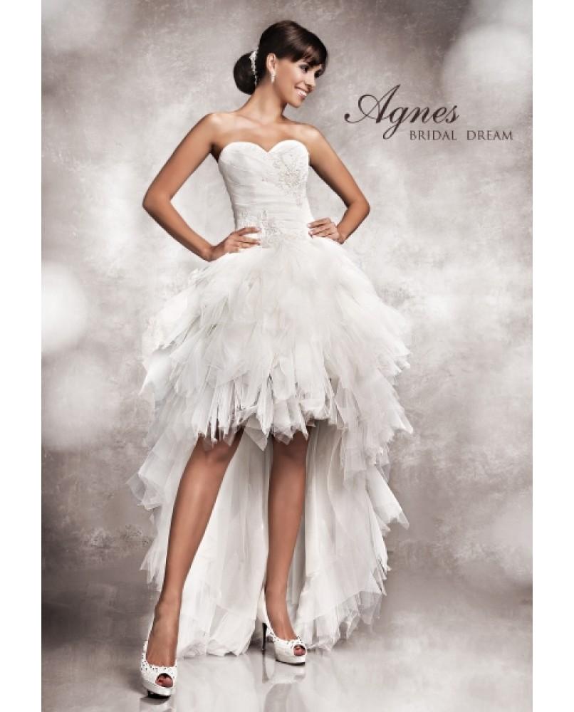 vpredu kratke vzadu dlhe svadobne saty agnes bridal dream 11381 ... 7295dd69798