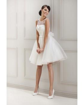 Krátke svadobné šaty Agnes 11843