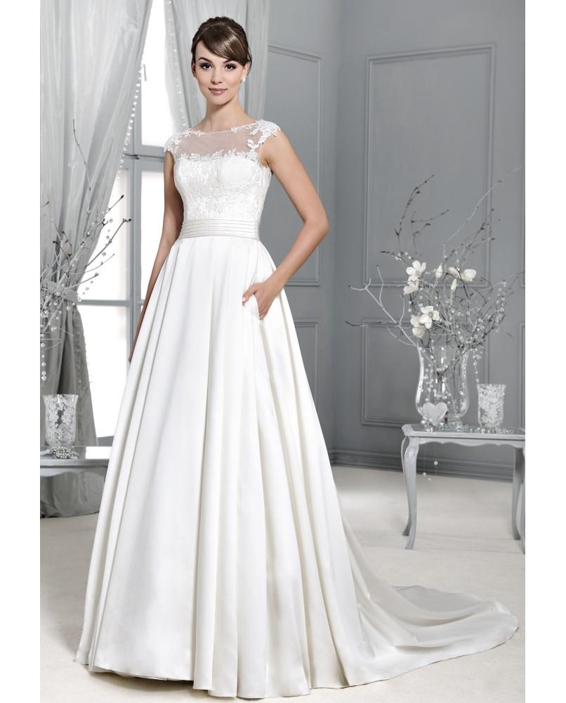 bc58b79db jednoduche svadobne saty so satenovou suknou agnes bridal dream ...