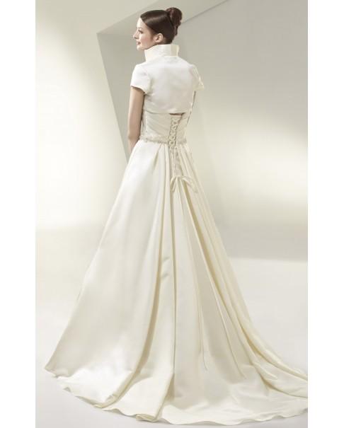 Svadobné šaty Enzoani Beautiful BT14_18 - jediný kus vo výpredaji veľ. 38 biele