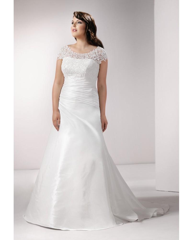 f4c0cb4f9936 svadobne saty pre moletky s rukavmi agnes bridal dream plus size ...