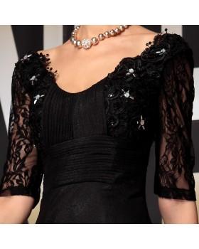 Spoločenské šaty GALINA - čierne S