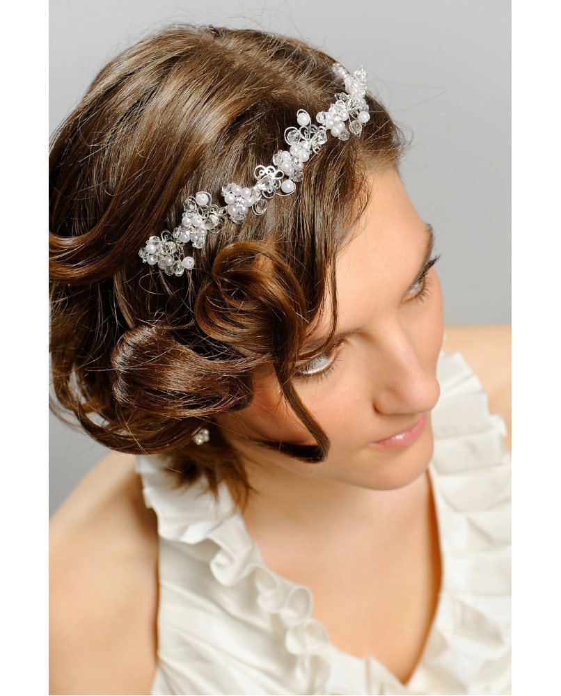 4540c828d korunka, svadobná ozdoba do vlasov