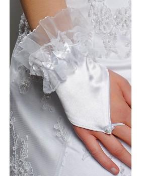 Svadobné rukavice s čipkou