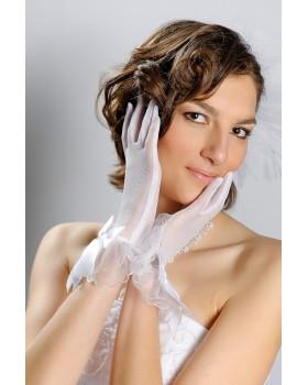 Svadobné rukavičky priesvitné