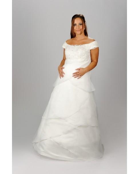 Tehotenské svadobné šaty DANIELA