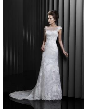 Svadobné šaty Enzoani Beautiful BT13_1 - NOVÉ, veľ. 42 biele, výpredaj