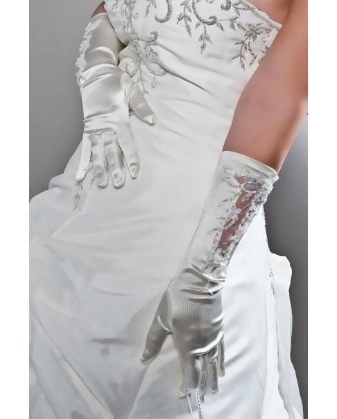 Svadobné rukavičky NELA