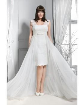 Krátke svadobné šaty Agnes 14206