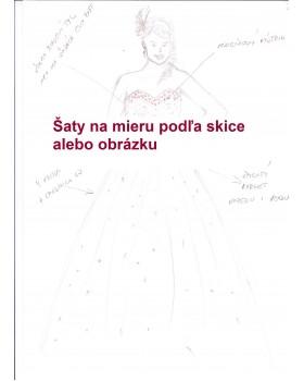Svadobné šaty na mieru podľa obrázku