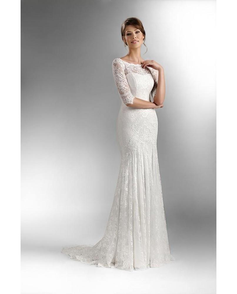 vintage uzke svadobne saty s rukavmi agnes bridal dream the one ... 08c9b028063