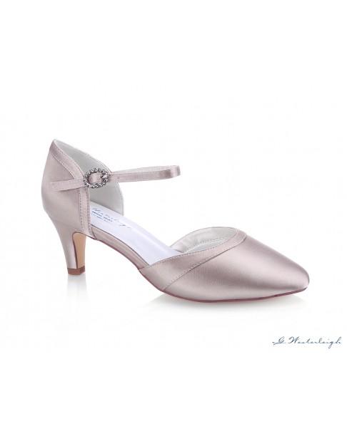 Svadobné a spoločenské topánky Rosa - staroružová