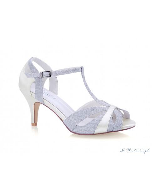 Svadobné a spoločenské sandálky Corinne - strieborné, G. Westerleigh
