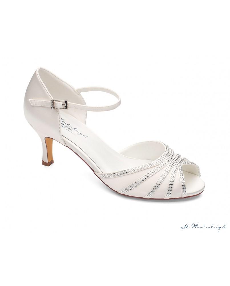 98981d0531 pohodlne svadobne sandalky na nizkom podpatku Jessica znacky westerleigh