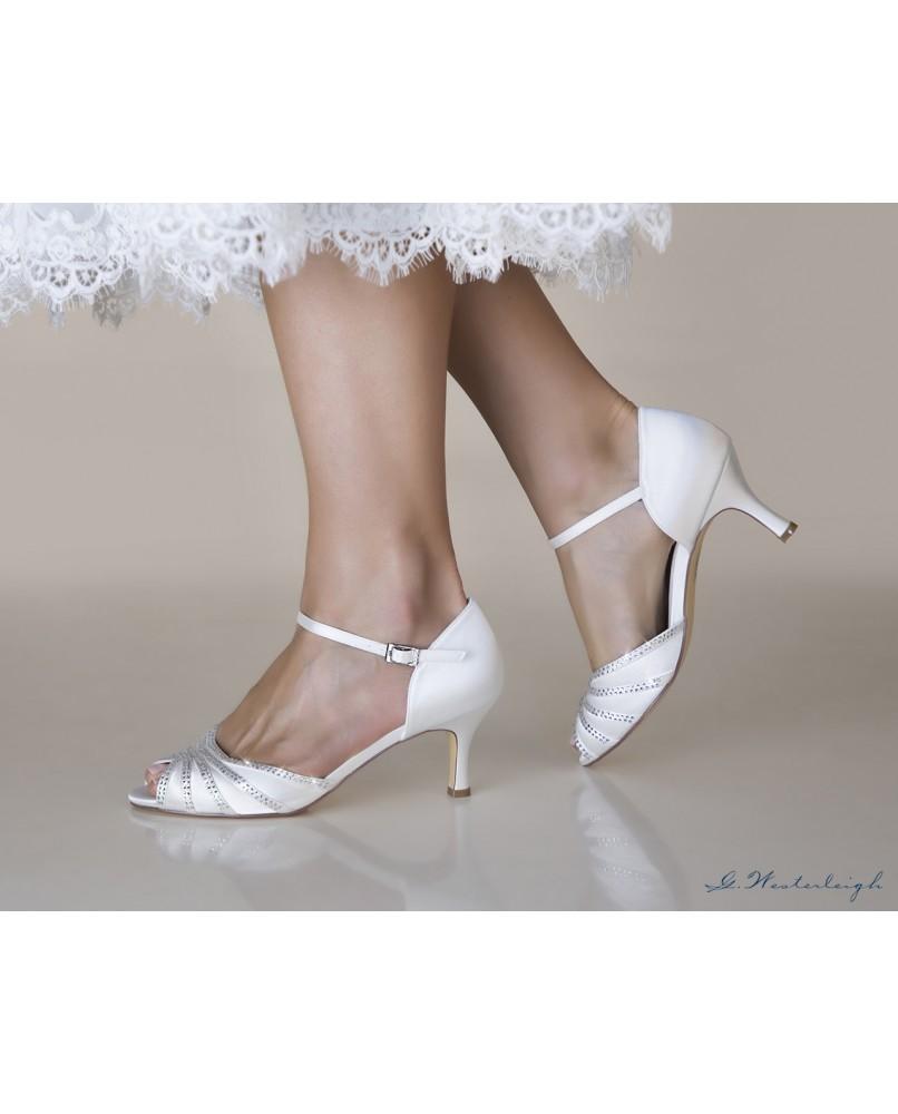 a950e927dfd0 pohodlne svadobne sandalky na nizkom podpatku Jessica znacky westerleigh